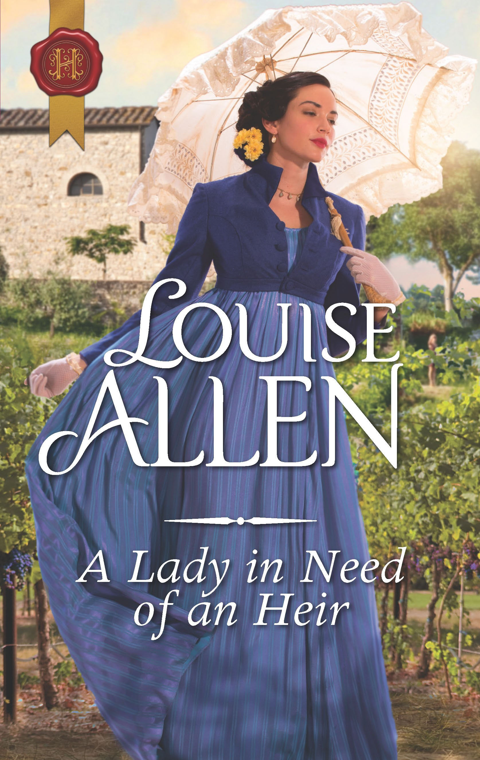 Cover of historical romance, A Lady in Need of an Heir, by Louise Allen