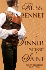 Cover of historical romance, A Sinner Without a Saint, by Bliss Bennet