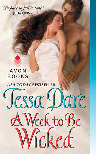 A Week to Be Wicked cover, historical romance by Tessa Dare