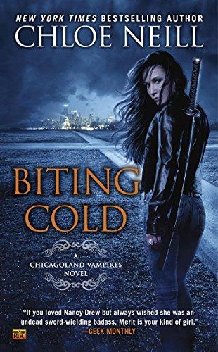 cover of biting cold, urban fantasy novel
