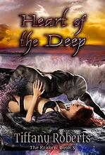 Heart of the Deep Sci-Fi Romance cover with a kraken hero