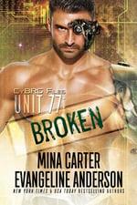 Unit 77 Mina Carter Evangeline Anderson, sci-fi romance cyborg hero on cover